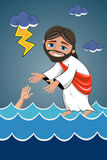 Jesus Christ Walking Water Saviour  Stock Images