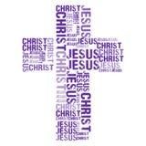 Jesus Christ White BG Stockbilder