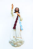 Jesus christ. Jesus on a white wall,Jesus is blessing us Royalty Free Stock Photos