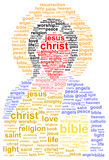Jesus Christ. Word Cloud Concept Royalty Free Stock Images
