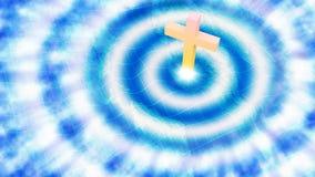 Jesus Christian Cross Impact Earth Illustration Fotografía de archivo libre de regalías