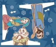 Jesus christmas. Jesus birthbay paper cut scene Royalty Free Stock Photography