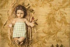 Jesus Christmas bakgrund kopiera avstånd Royaltyfri Fotografi