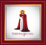 Jesus Christmas greetings card design Royalty Free Stock Photos