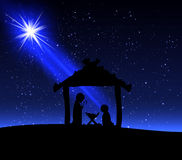 Jesus on Christmas night Stock Photos