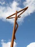 Jesus Christus auf dem Kreuz Stockbild