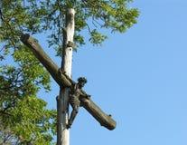 Jesus Christus auf Kreuz Lizenzfreie Stockfotos