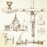 Jesus-Christus - christendom stock illustratie