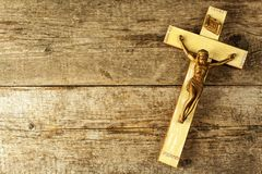 Jesus-Christus cruxified Katholiek Symbool Christelijk Symbool De Vakantie van Pasen Christus op het Kruis stock afbeeldingen