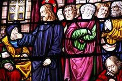Jesus-Christus en zijn discipelen stock afbeelding