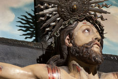 Jesus Christus-Kreuz Stockbild