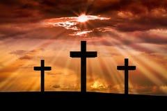 Jesus Christus-Kreuz Ostern, Karfreitags-Konzept Stockfotografie