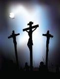 Jesus Christus - Kreuzigung. Vektorabbildung. Stockfotos