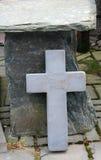Jesus-Christus leeft Kruis stock afbeelding