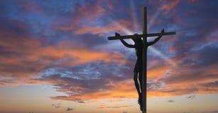 Jesus-Christus op het Kruis Stock Foto