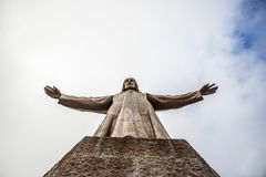 Jesus Christus Statue by Josep Miret, BARCELONA. Jesus Christus Statue by Josep Miret at Temple Expiatori del Sagrat Cor on Summit of Mount Tibidabo in Barcelona Stock Image