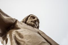 Jesus Christus Statue by Josep Miret, BARCELONA. Jesus Christus Statue by Josep Miret at Temple Expiatori del Sagrat Cor on Summit of Mount Tibidabo in Barcelona Stock Photography
