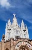 Jesus Christus Statue på den Expiatory kyrkan av den sakrala hjärtan av Jesus Royaltyfria Foton