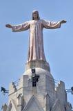 Temple del Sagrad Barcelona Spain. Jesus Christus Statue at Temple del Sagrad Cor in Barcelona, Spain stock photo