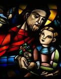 Jesus Christus und ein Kind. Lizenzfreies Stockfoto