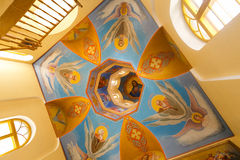 Jesus on church ceiling paintings. Jesus on Moldavian church ceiling paintings Royalty Free Stock Image