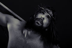 Jesus Close Up Black And White Stock Photography