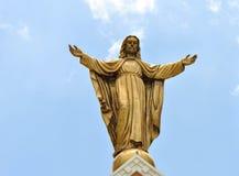 Jesus on cloud Stock Photos