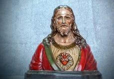 Jesus. Colored statue of Jesus Christ Stock Photo