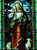Jesus com cordeiro Imagens de Stock