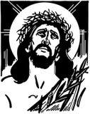 Jesus com a coroa de espinhos ilustração do vetor