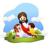 Jesus com crianças pequenas Fotografia de Stock