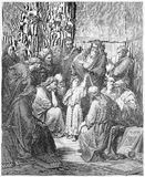 Jesus com os doutores Fotos de Stock Royalty Free