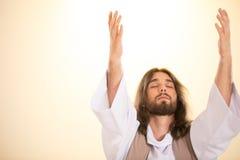 Jesus com os olhos fechados fotografia de stock royalty free