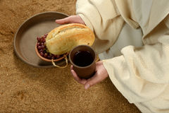 Jesus during communion Royalty Free Stock Images