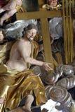 Jesus con la traversa Immagine Stock