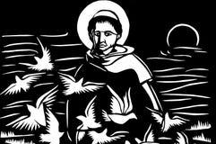 Jesus con le colombe Immagine Stock Libera da Diritti