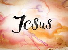 Jesus Concept Watercolor Theme arkivbilder