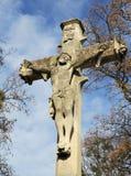 Jesus Crist. Statue on cemetery. Lviv Stock Image