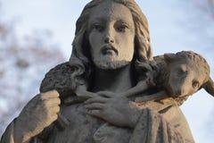 Jesus Cristo - bom pastor (composição da arte) Fotografia de Stock Royalty Free