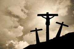 Jesus Cristo cruxified Imagens de Stock Royalty Free