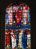 Jesus Cristo de vidro manchado do indicador e seu discípulo Foto de Stock
