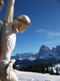Jesus Cristo e as montanhas Imagens de Stock Royalty Free
