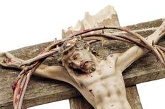 Jesus Cristo e coroa de espinhos sangrenta fotografia de stock royalty free