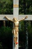 Jesus Cristo em uma cruz Fotos de Stock Royalty Free