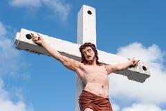 Jesus Cristo na cruz Imagem de Stock