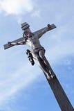 Jesus on the cross stock photography