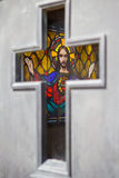 Jesus in the cross Royalty Free Stock Photos