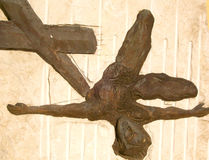 Jesus and cross Stock Images