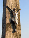 Jesus on cross. Crucifix royalty free stock photography