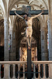 Jesus cross. Jesus on the cross in mosteiro dos jeronimos, part of the unesco world heritage royalty free stock images